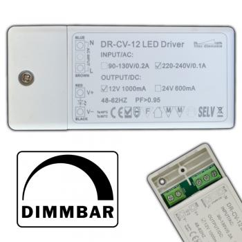 Dimmbarer LED mini Trafo 1-12 Watt 12V DC