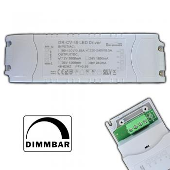Dimmbarer LED Trafo 1-45 Watt 12V DC